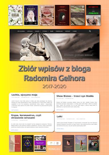 Okładka Zbiór wpisów z Bloga Radomira Gelhora, 2017-2020